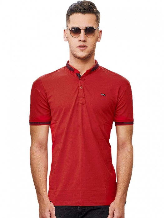 Stride Red Slim Fit Mens Polo T-shirt