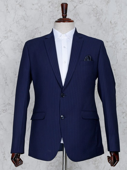 Terry Rayon Fabric Two Buttoned Placket Coat Suit
