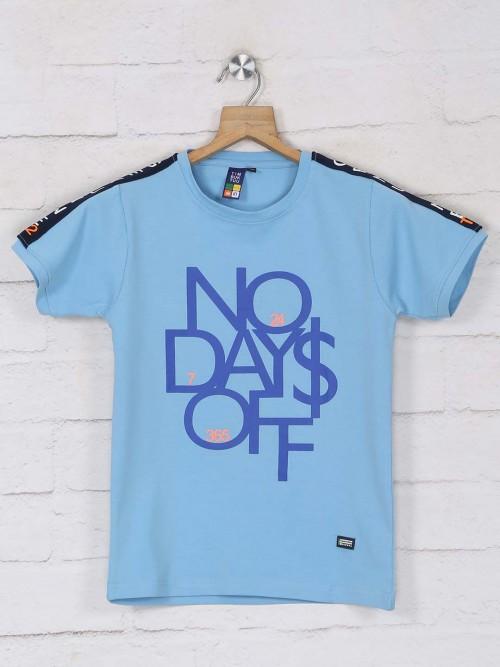 Timbuktu Blue Printed Half Sleeve T-shirt