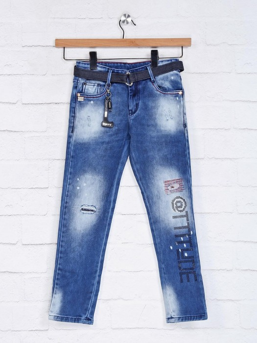 Tippy Blue Washed Casual Jeans
