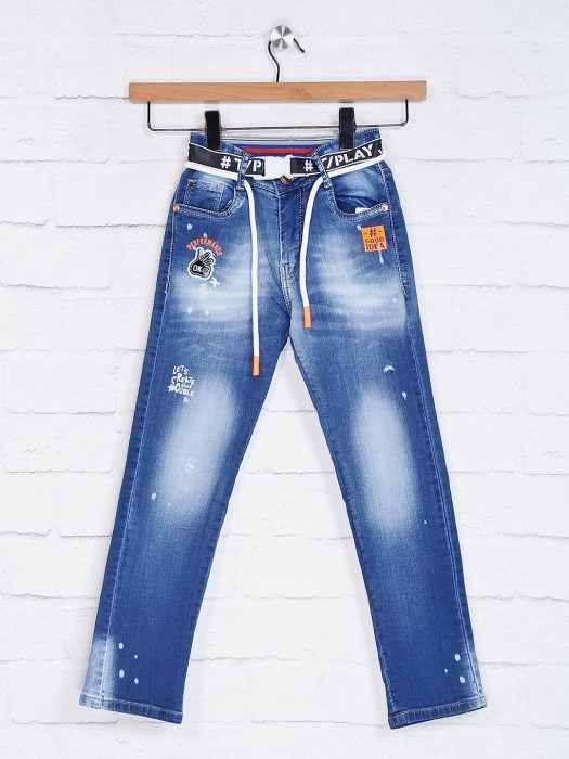 Tippy Washed Blue Boys Jeans