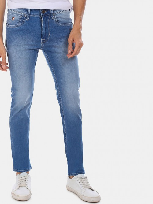 U S Polo Assn Blue Washed Skinny Fit Jeans
