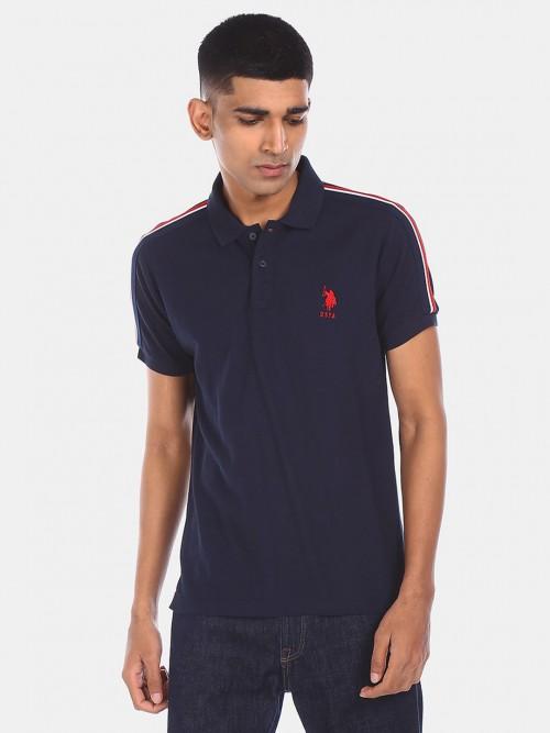 U S Polo Assn Mens Navy Solid T-shirt