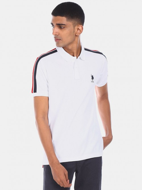 U S Polo Assn Presented Solid White T-shirt