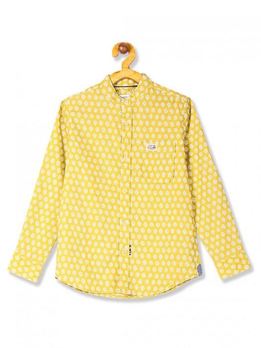 U S Polo Lemon Yellow Patch Pocket Shirt