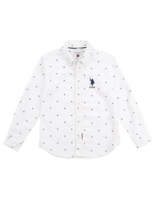 U S Polo White Printed Pattern Shirt