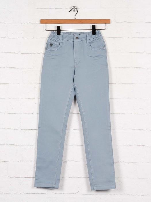 U-tex Solid Blue Color Cotton Fabric Trouser