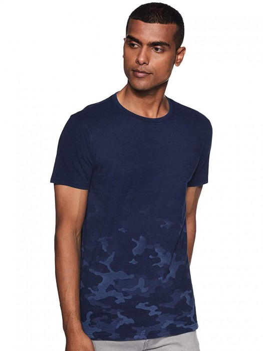 UCB Camouflage Printed Navy T-shirt