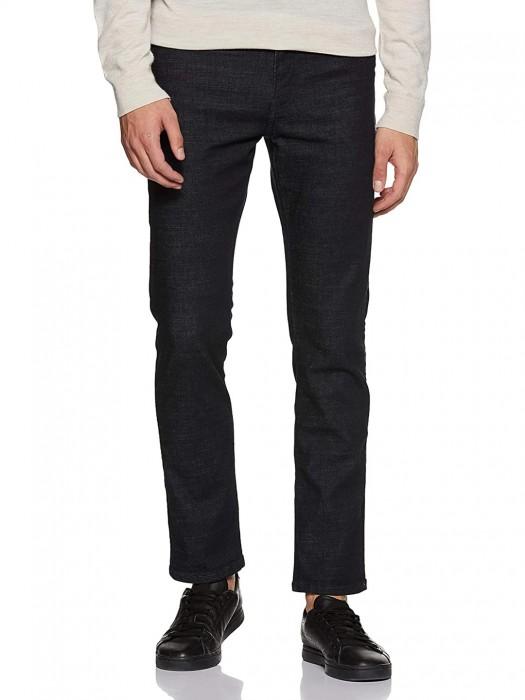 UCB Dark Navy Slim Fit Solid Jeans