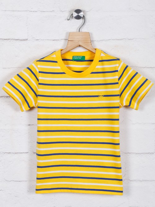 UCB Yellow Stripe Cotton T-shirt