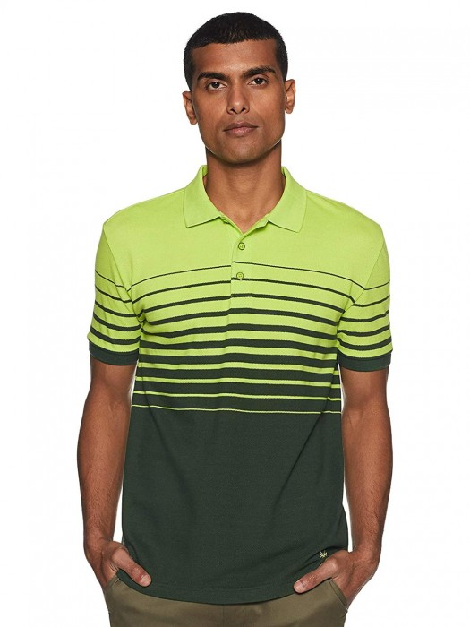 United Colors Of Benetton Green Stripe Slim Fit T-shirt