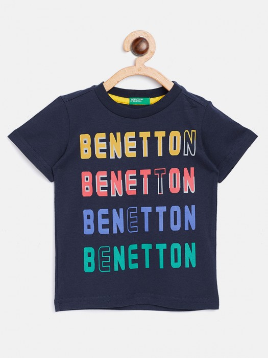 United Colors Of Benetton Navy Boys Printed T-shirt