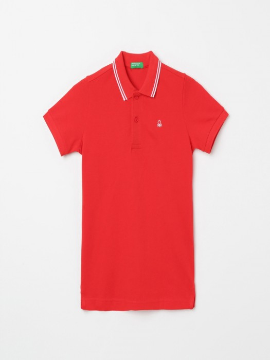 United Colors Of Benetton Solid Red T-shirt