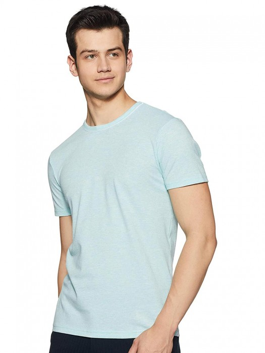 United Colors Of Benetton Solid Sea Green T-shirt