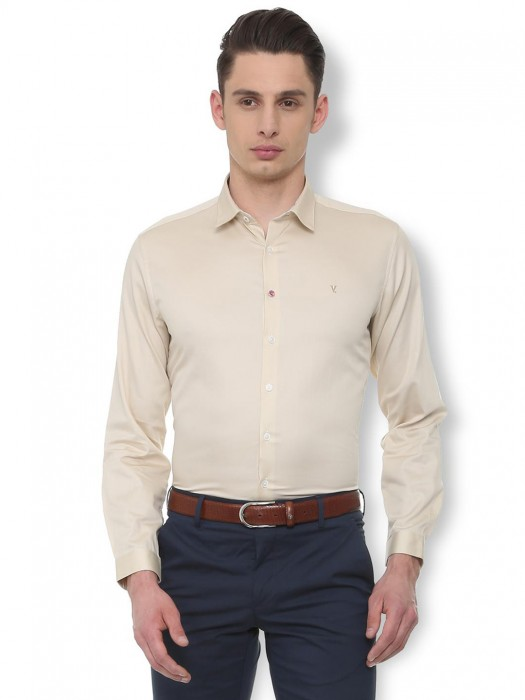 V. DOT Solid Brige Cotton Party Shirt
