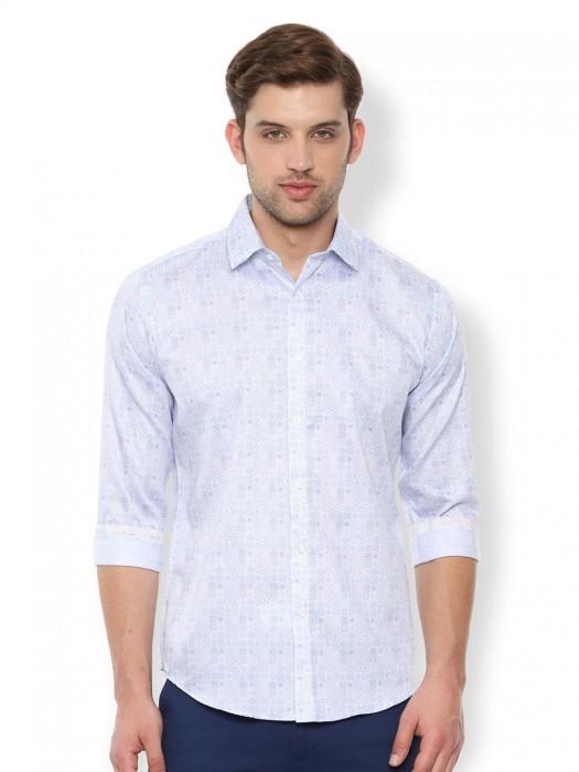 V.DOT Off White Casual Printed Shirt