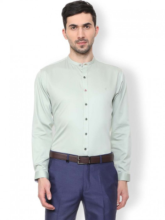 Van Heusen Mint Green Solid Shirt