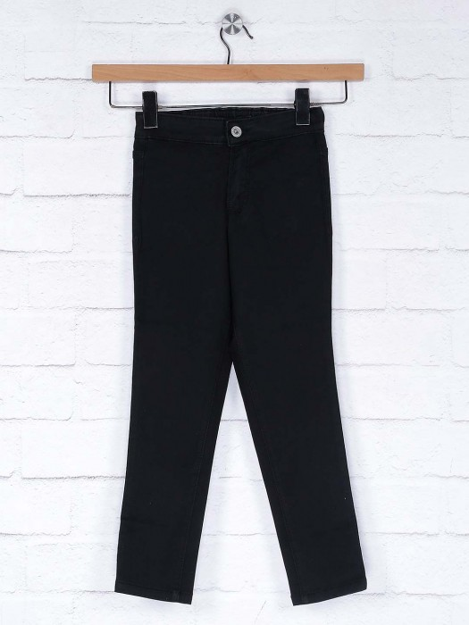 Vitamins Black Color Denim Casual Jeans