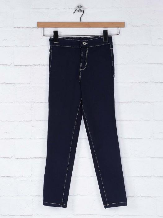Vitamins Navy Blue Denim Casual Wear Jeans
