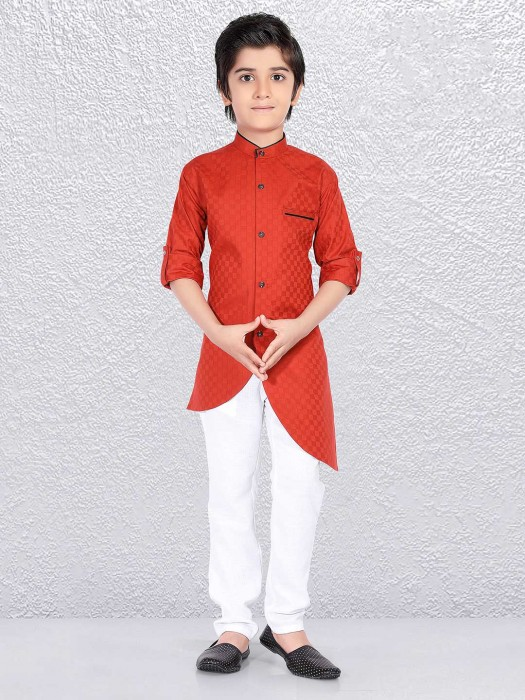 Wedding Occasion Orange Kurta Suit