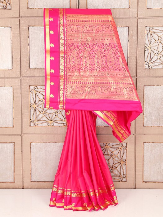 Wedding Pink Dressy Silk Saree