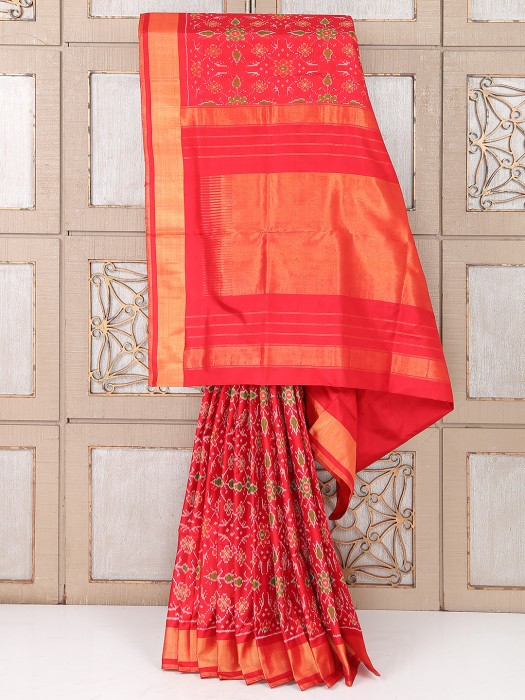 Wedding Red Color Amazing Silk Saree