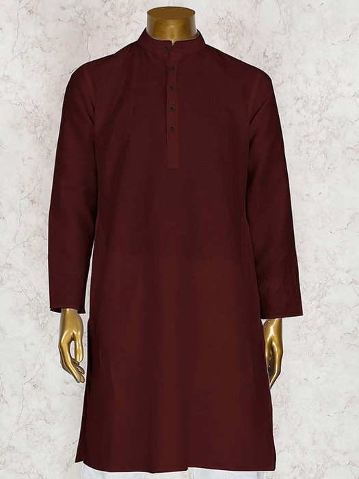 Wedding Wear Wine Kurta Suit