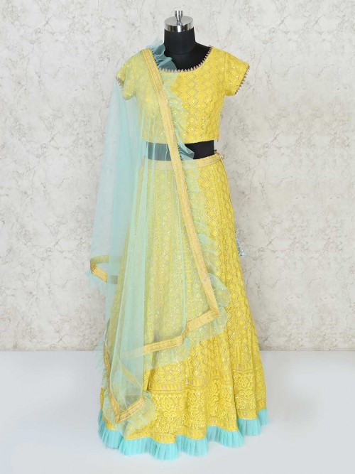 Yellow Designer Lehenga Choli For Haldi