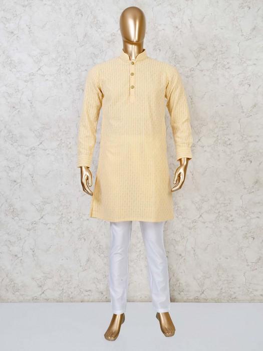 Yellow Georgette Festive Function Kurta Suit