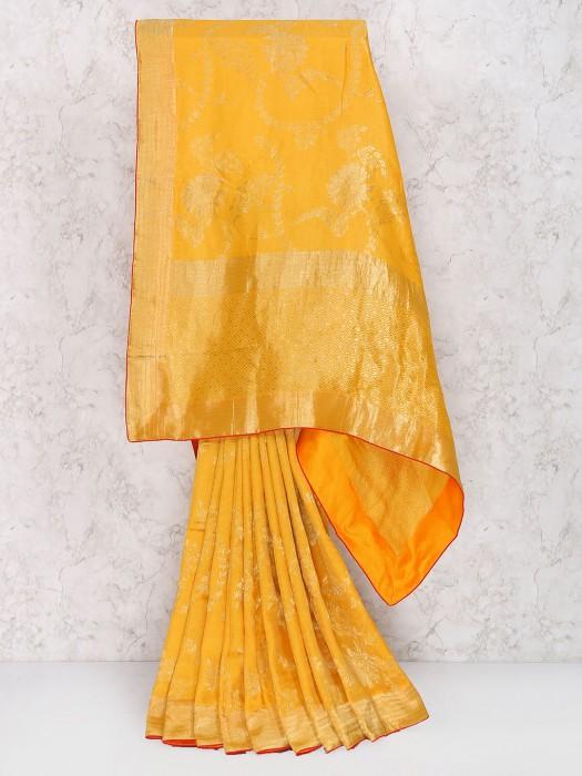 Yellow Hue Wedding Wear Muga Silk Saree