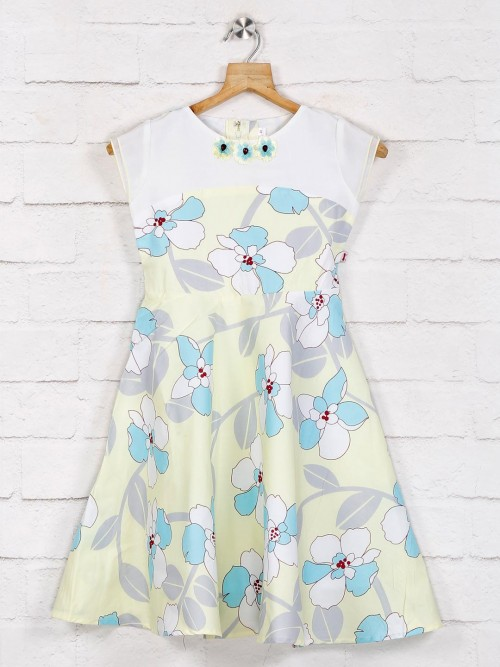 Yellow Printed Cotton Frock