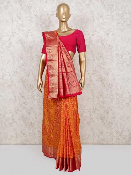 Yellow Wedding Saree In South Pure Silk