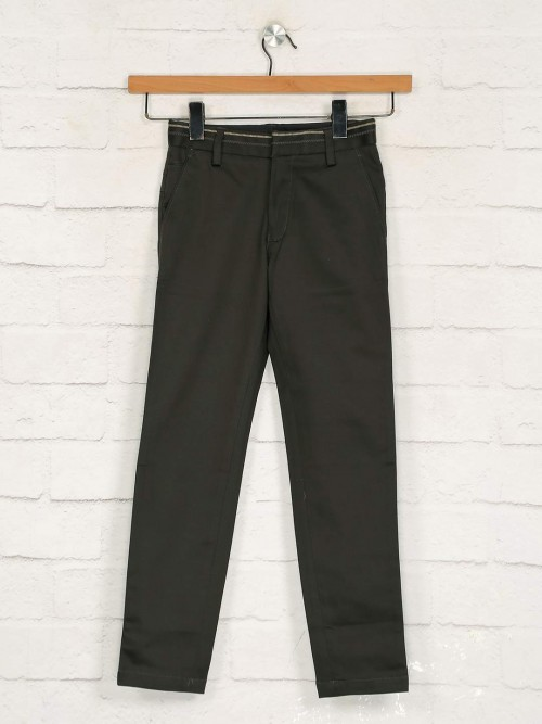 Zillian Olive Cotton Casual Boys Rouser