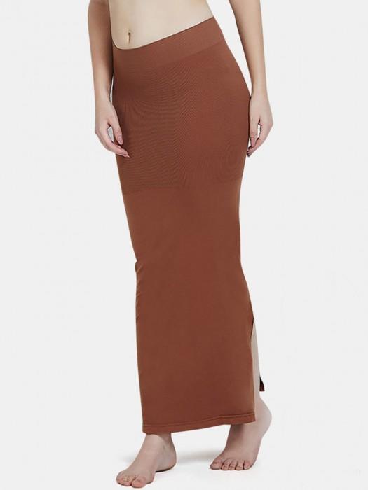 Zivame Saree Shape Wear Brown Lycra Petticoat