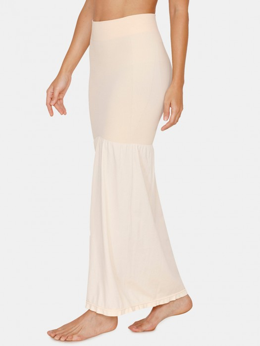 Zivame Saree Shape Wear Lycra Cream Petticoat