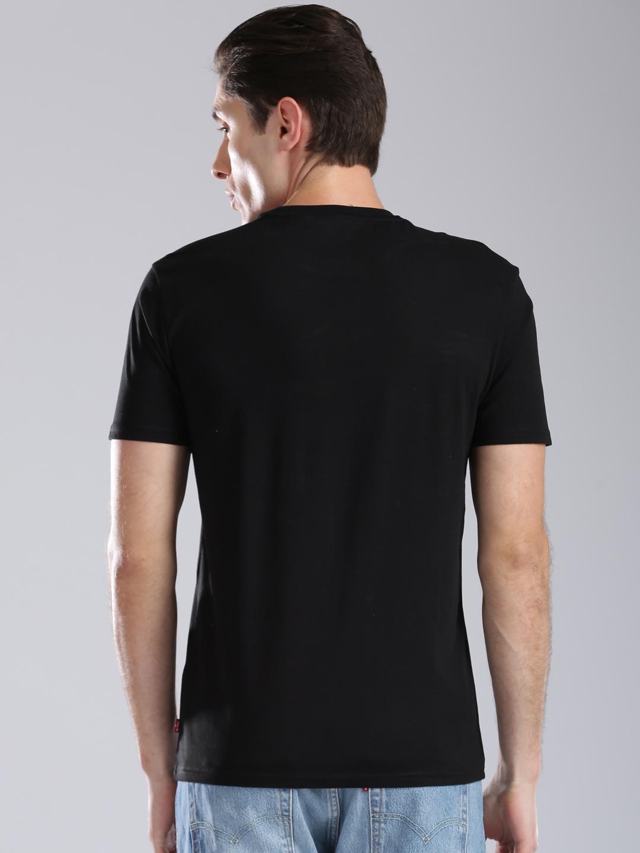 Levis Black Color Casual Cotton Fabric T Shirt G3