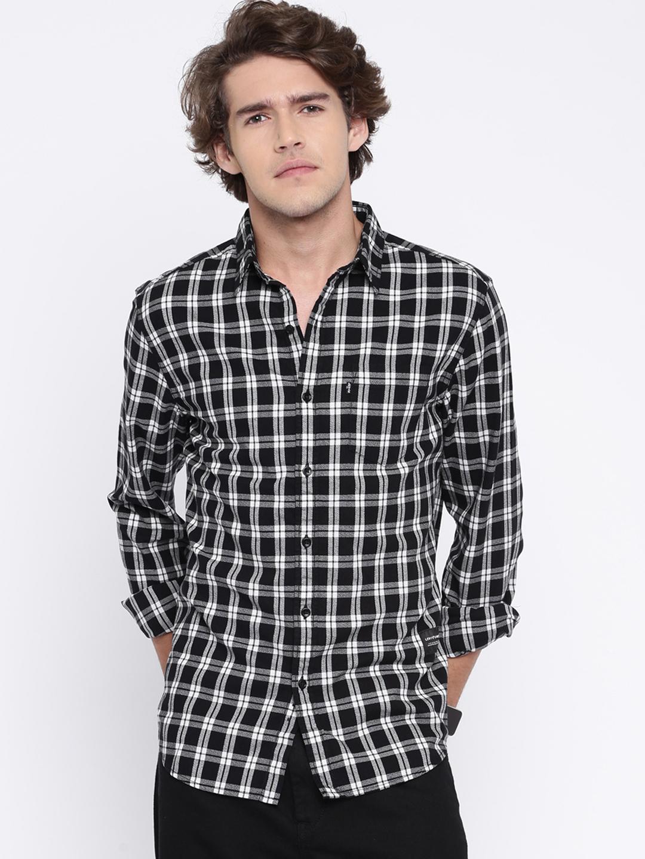 Levis black cotton shirt g3 mcs3908 for Mens black levi shirt