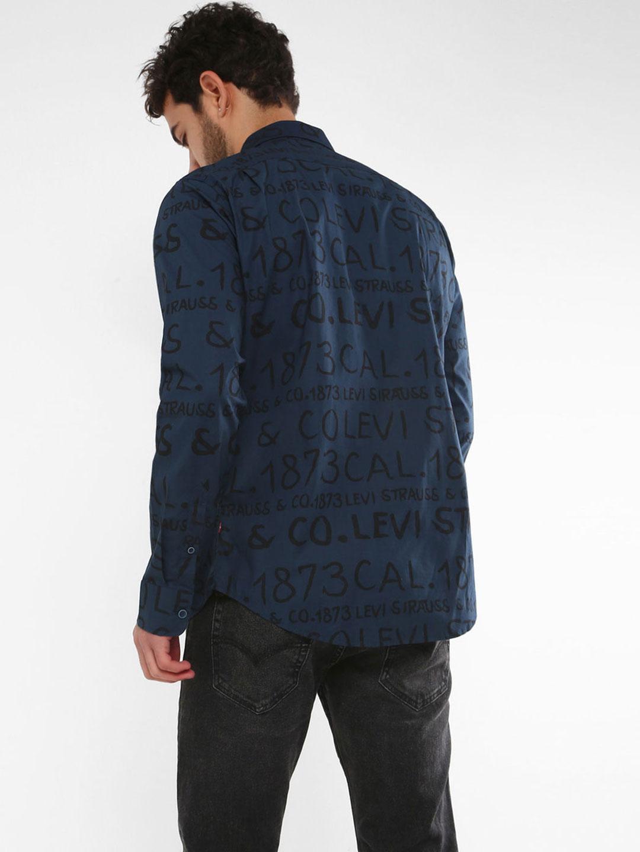 24a5c7530c3 Levis dark blue printed slim fit casual shirt - G3-MCS6238