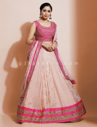 Latest pink geogette lehenga choli for wedding