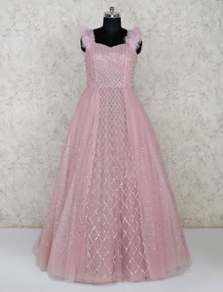 Adorable party wear gown in pink