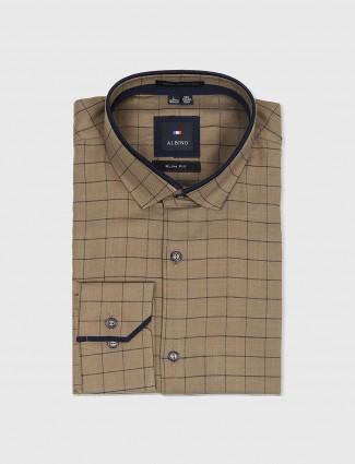 Albino brown slim fit shirt