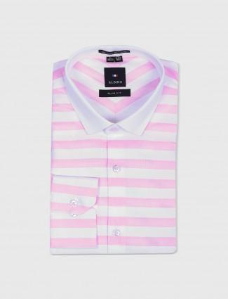 Albino cotton pink and white shirt