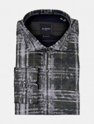 Albino green printed mens shirt