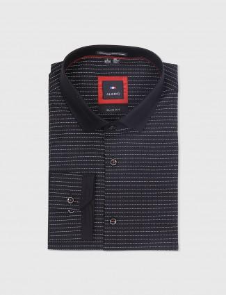 Albino stripe black cotton shirt