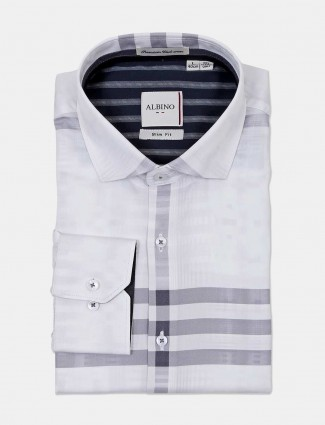 Albino stripe white formal wear shirt