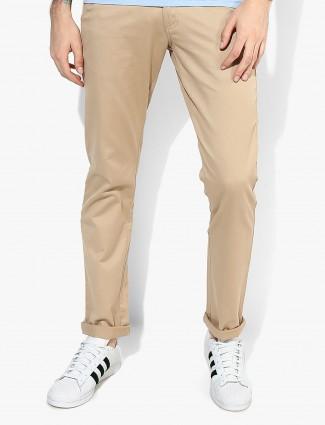 Allen Solly beige color cotton trouser