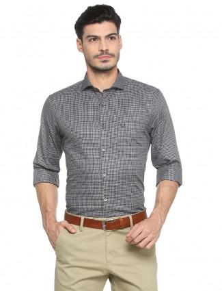 Allen Solly black color checks shirt