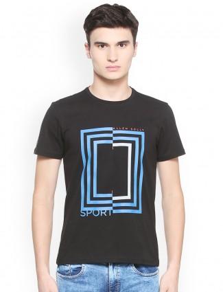 Allen Solly black printed t-shirt