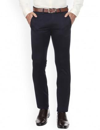 Allen Solly black simple cotton trouser