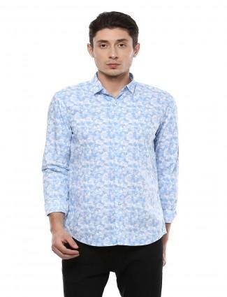 Allen Solly blue color printed shirt